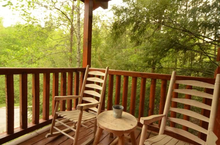 Rocking Chairs at Smoky Mountain Delight cabin