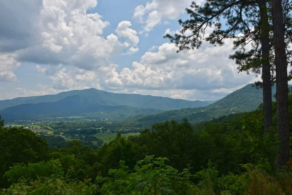 view of the mountains from foothills parkway